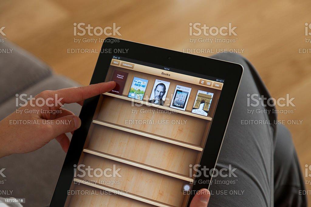 iBook on iPad 2 stock photo