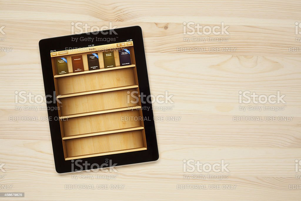 iBooks on Apple iPad royalty-free stock photo