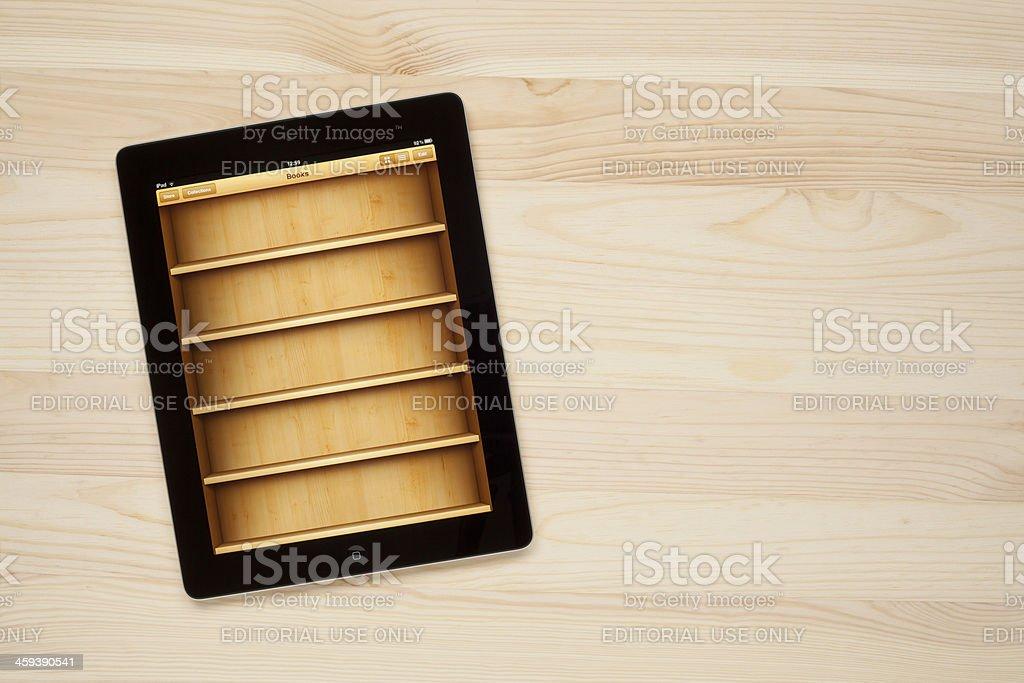 iBooks on digital tablet stock photo