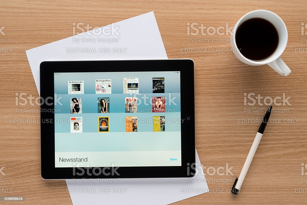 iBooks on iPad stock photo