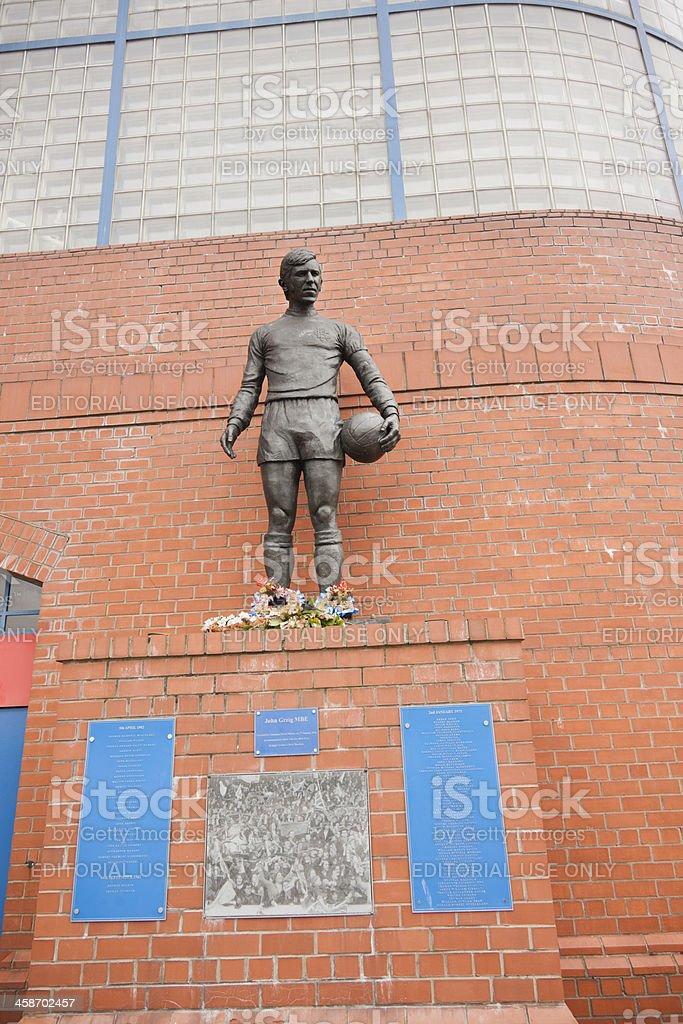 Ibrox Stadium Disaster Memorial, Glasgow stock photo