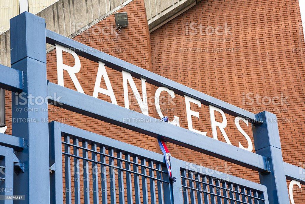 Ibrox Stadium, Glasgow stock photo