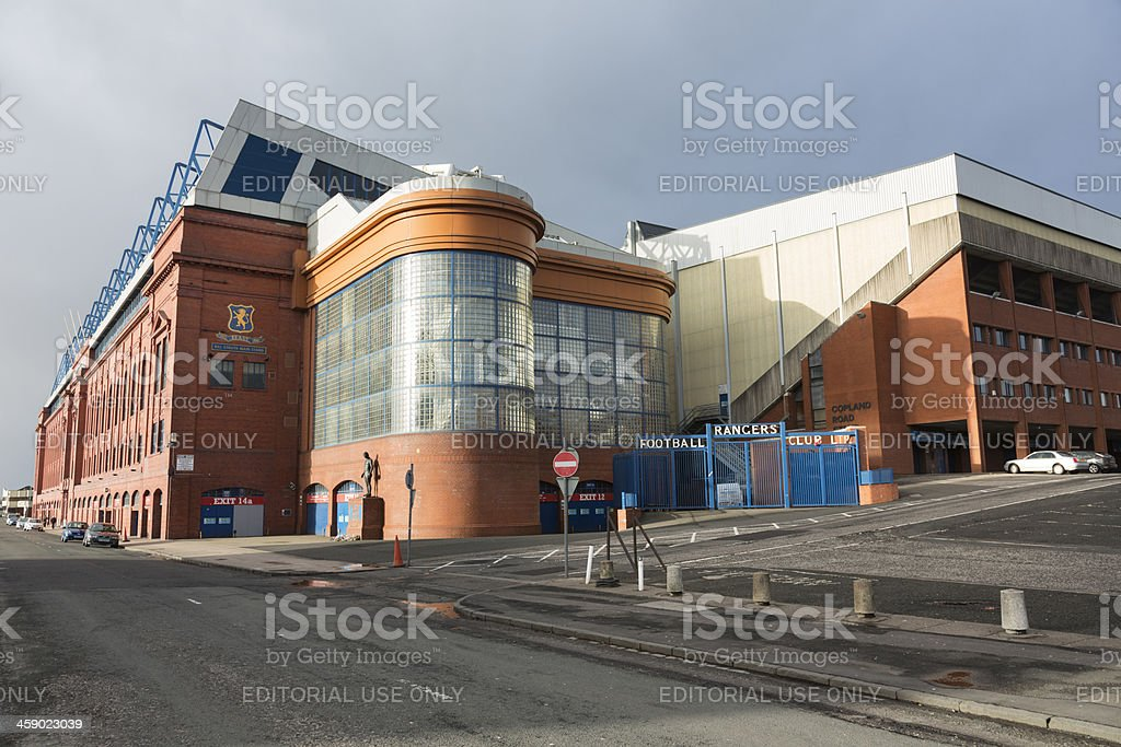Ibrox Stadium, Glasgow stock photo