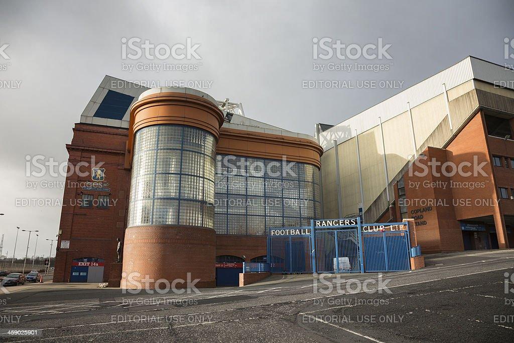 Ibrox Stadium, Glasgow royalty-free stock photo