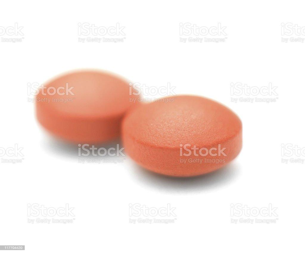 Ibuprofen Closeup Photo - Isolated on a White Background stock photo