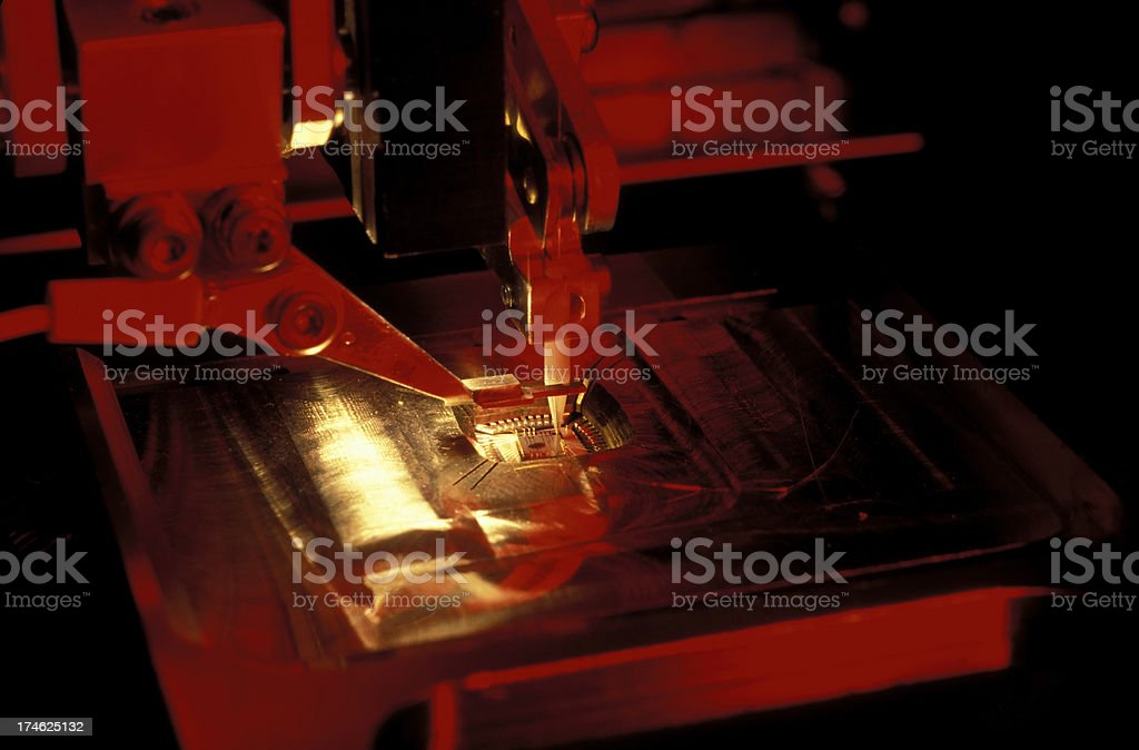 ic microchip electronics industry stock photo