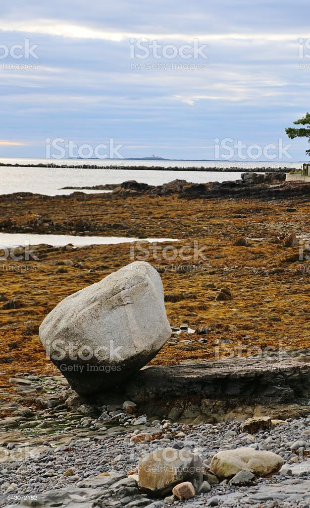 Ice Age and the Balance Rock stock photo