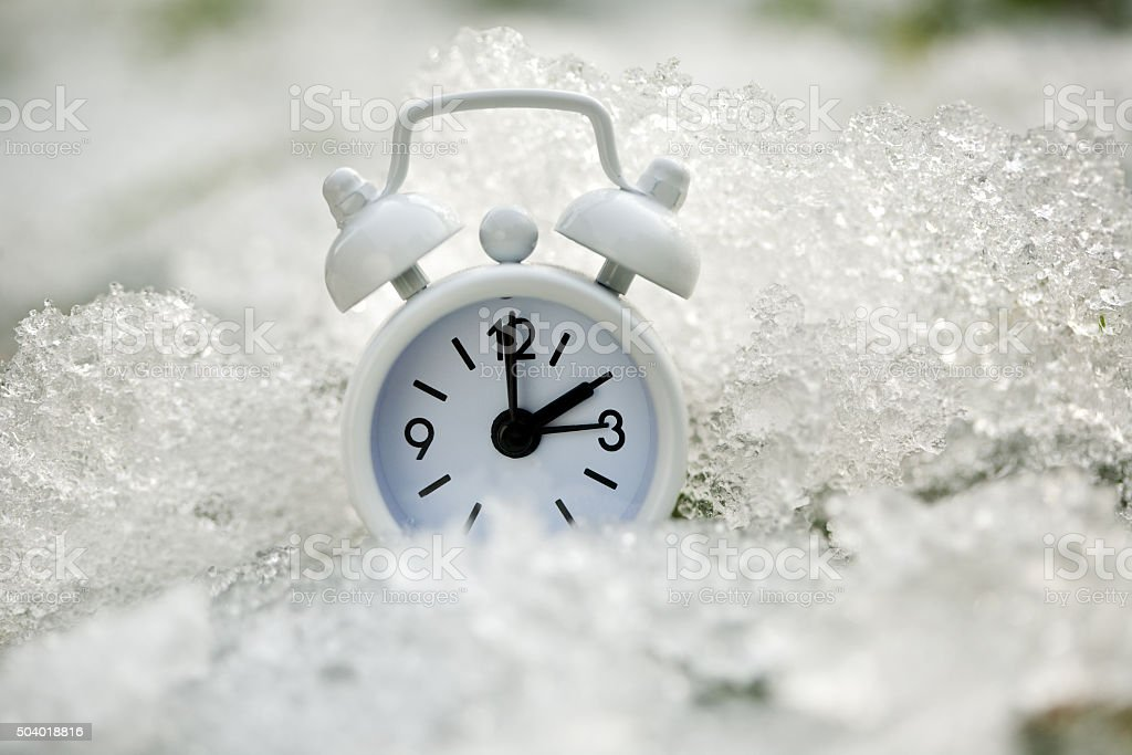 Ice Age Clock stock photo