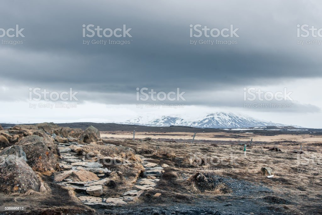 Ice age landscape from Iceland stock photo