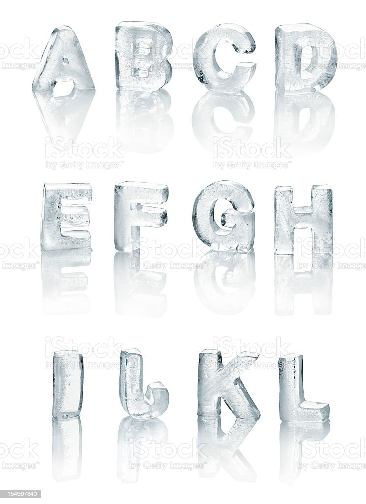 Ice Alphabet royalty-free stock photo