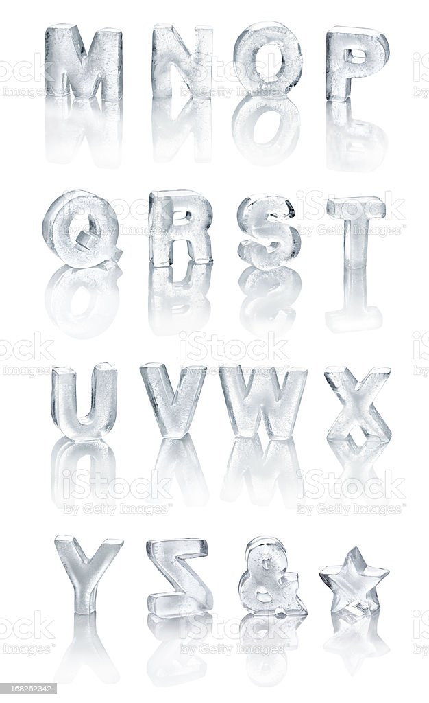 Ice Alphabet royalty-free stock photo