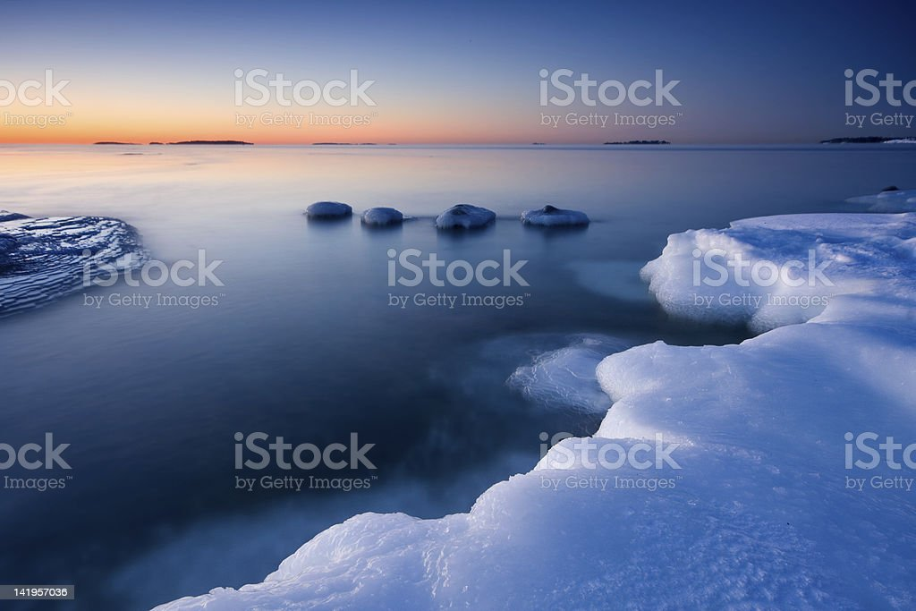 Ice and cold water royalty-free stock photo