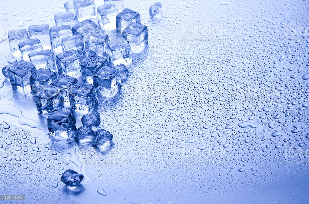 Ice, and cubes royalty-free stock photo