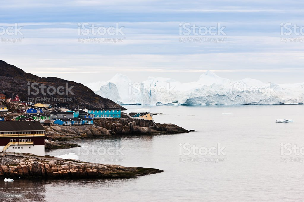 Ice and Icebergs Ilulissat Greenland stock photo