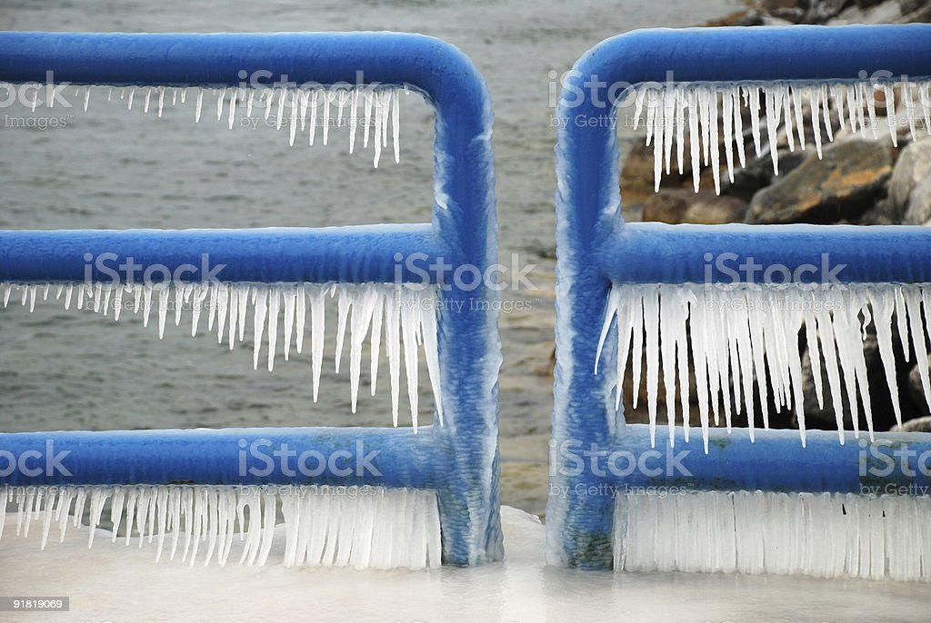 Ice and Icicles royalty-free stock photo