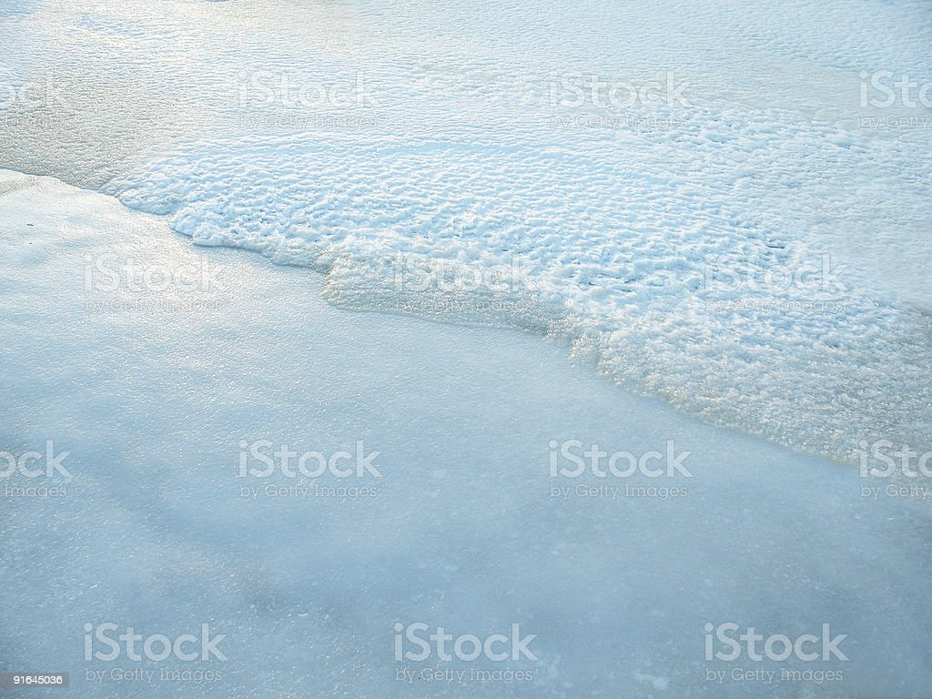 ice and snow background stock photo