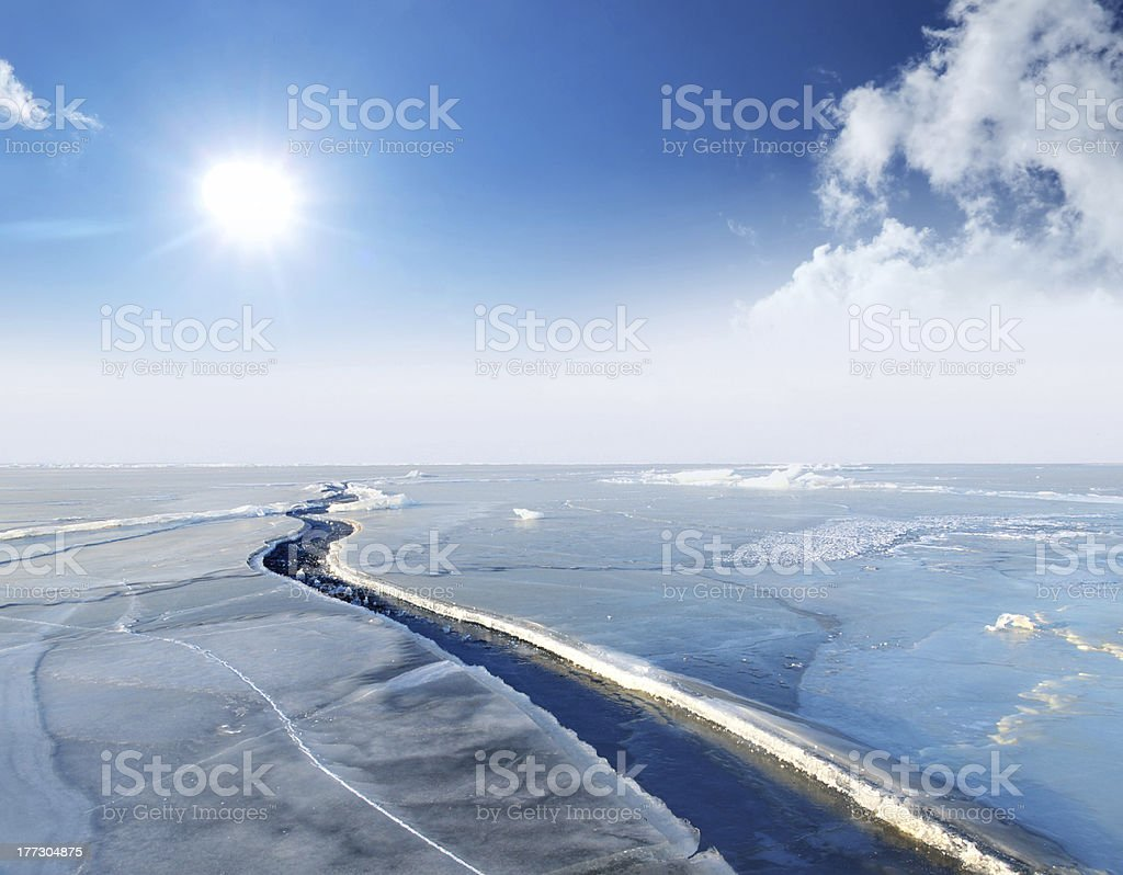 Ice and sunshine royalty-free stock photo