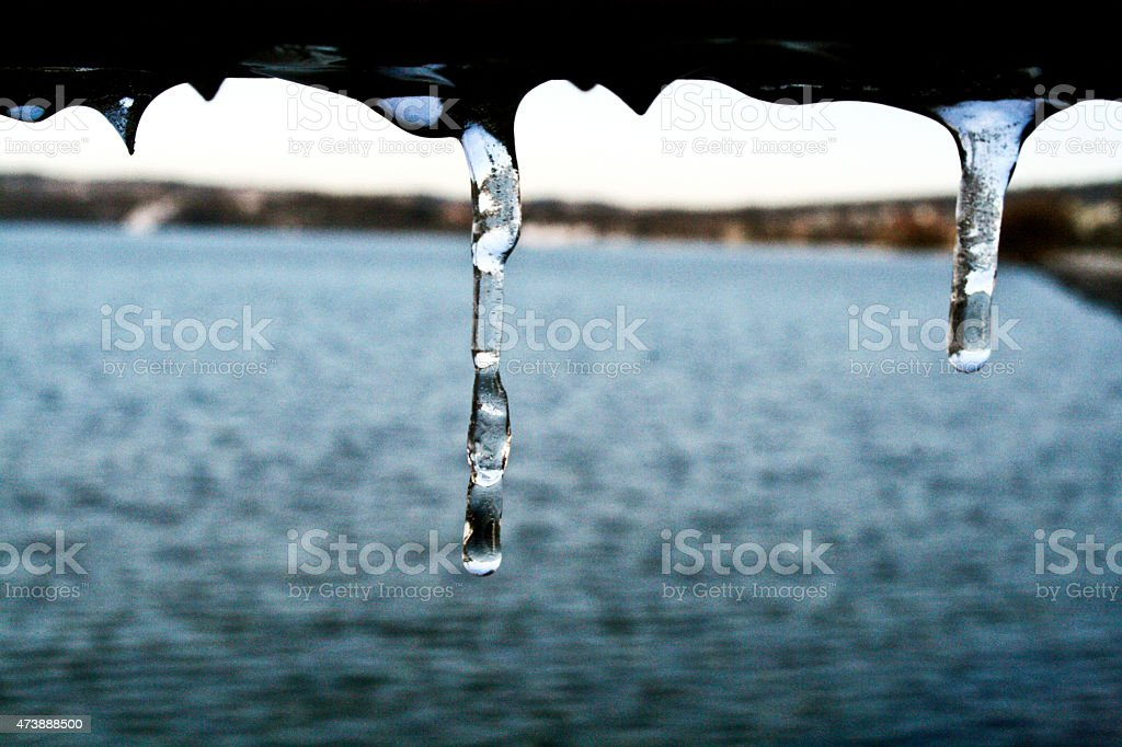 Ice and the water royalty-free stock photo
