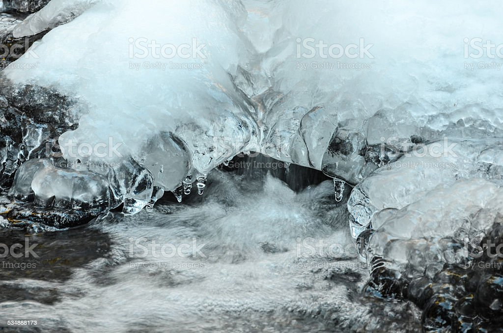 Ice and water stock photo
