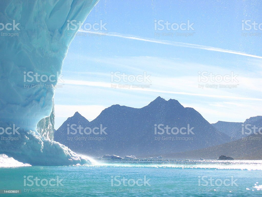 Ice archway royalty-free stock photo