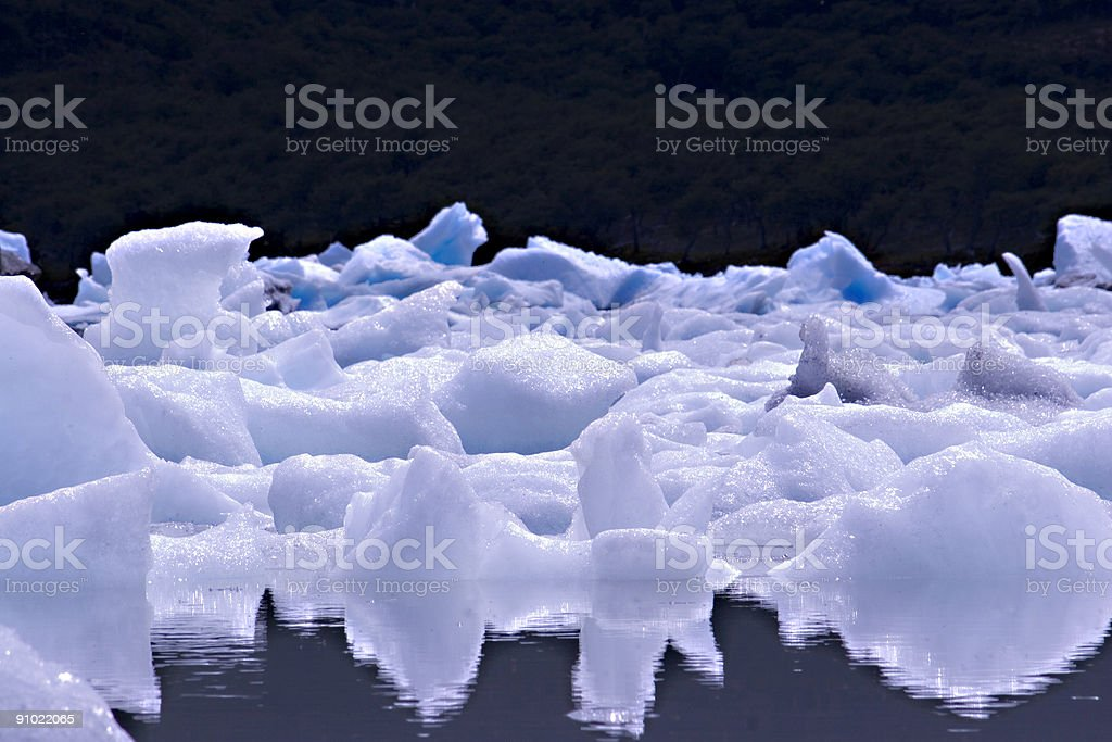 Ice at Lake Onelli royalty-free stock photo