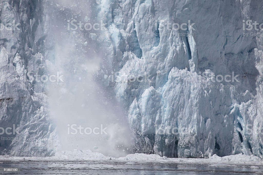 ice avalanche, aLASKA stock photo