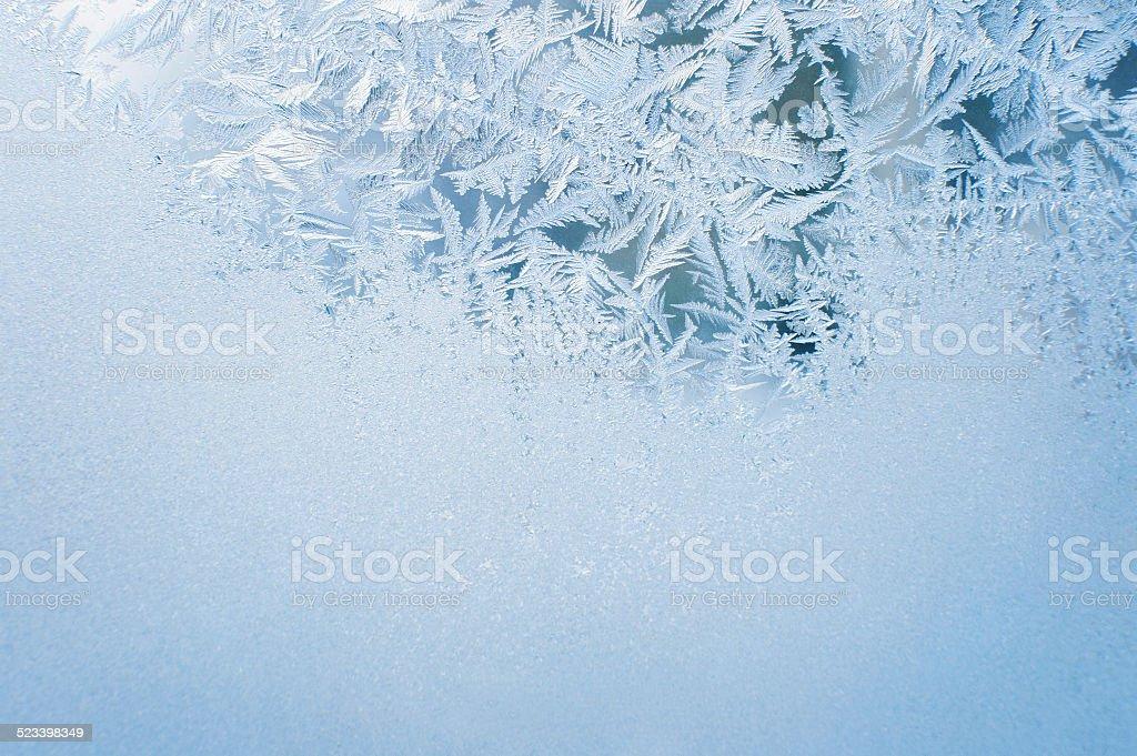 Ice background, frost on window stock photo