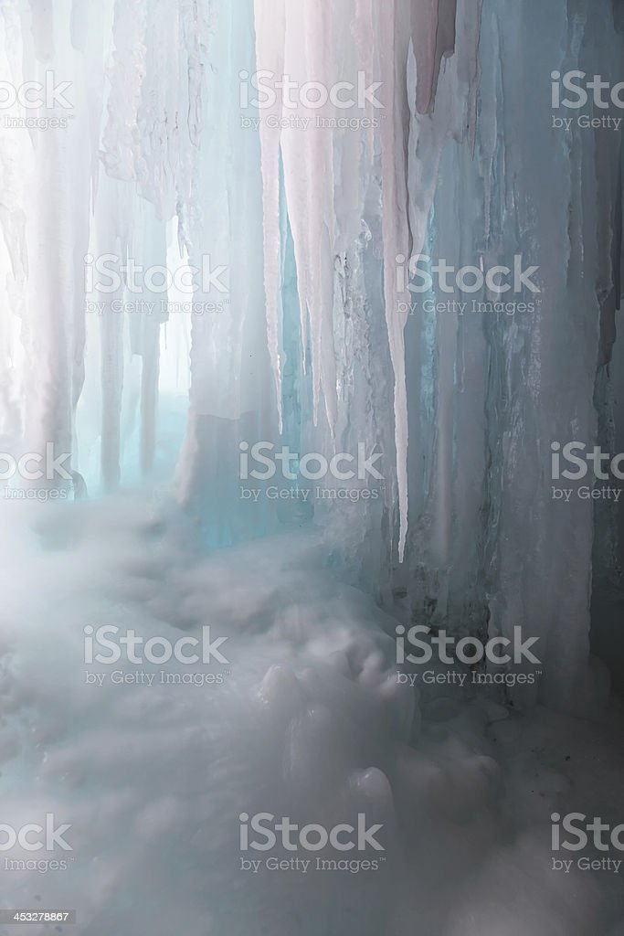Ice background vertical royalty-free stock photo