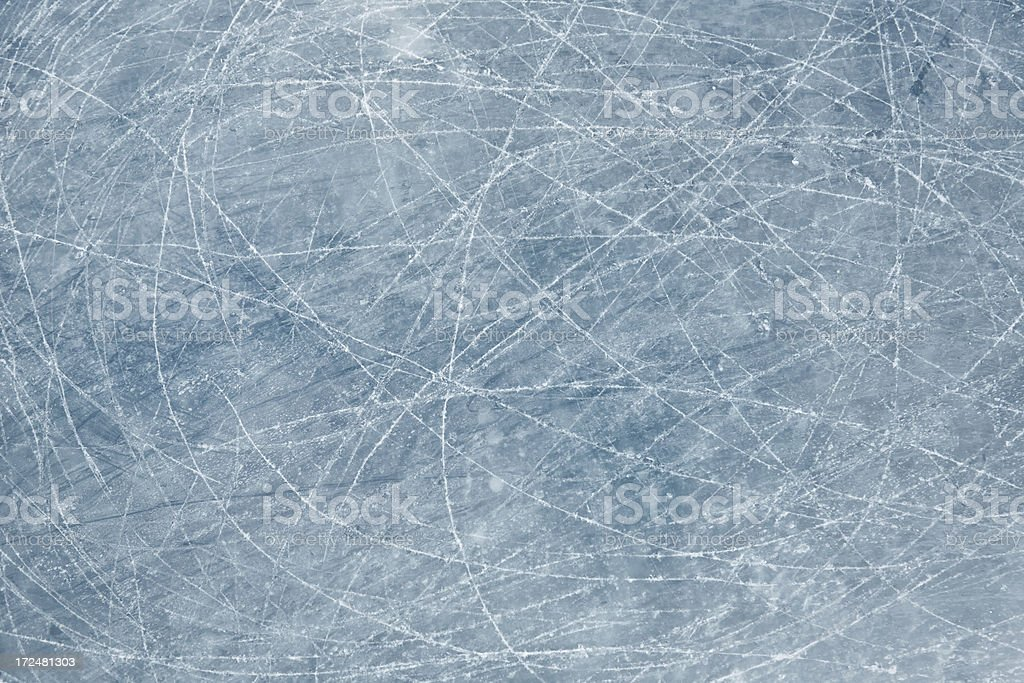 ice background with skate marks stock photo