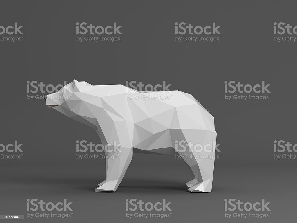 ice bear renderd in polygon style stock photo