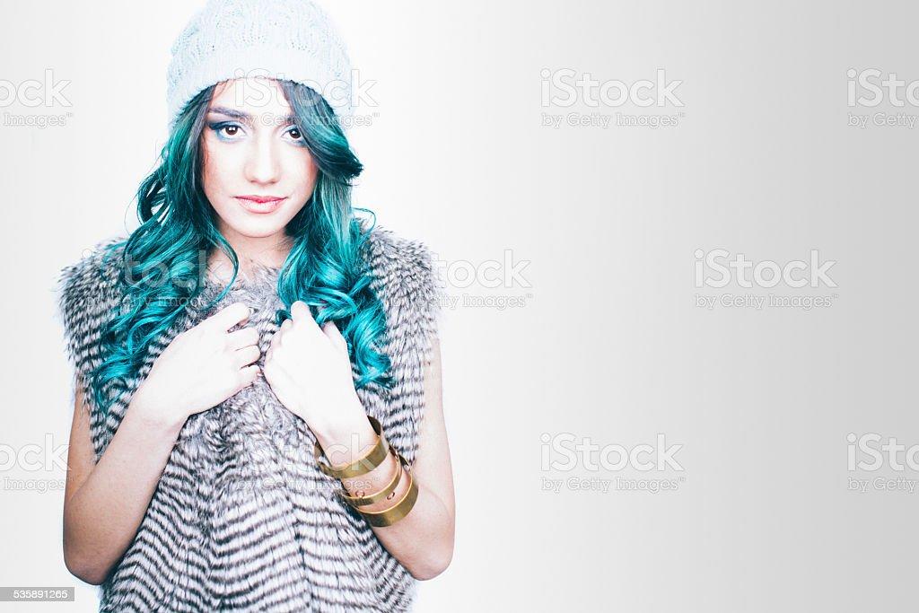 Ice beauty stock photo