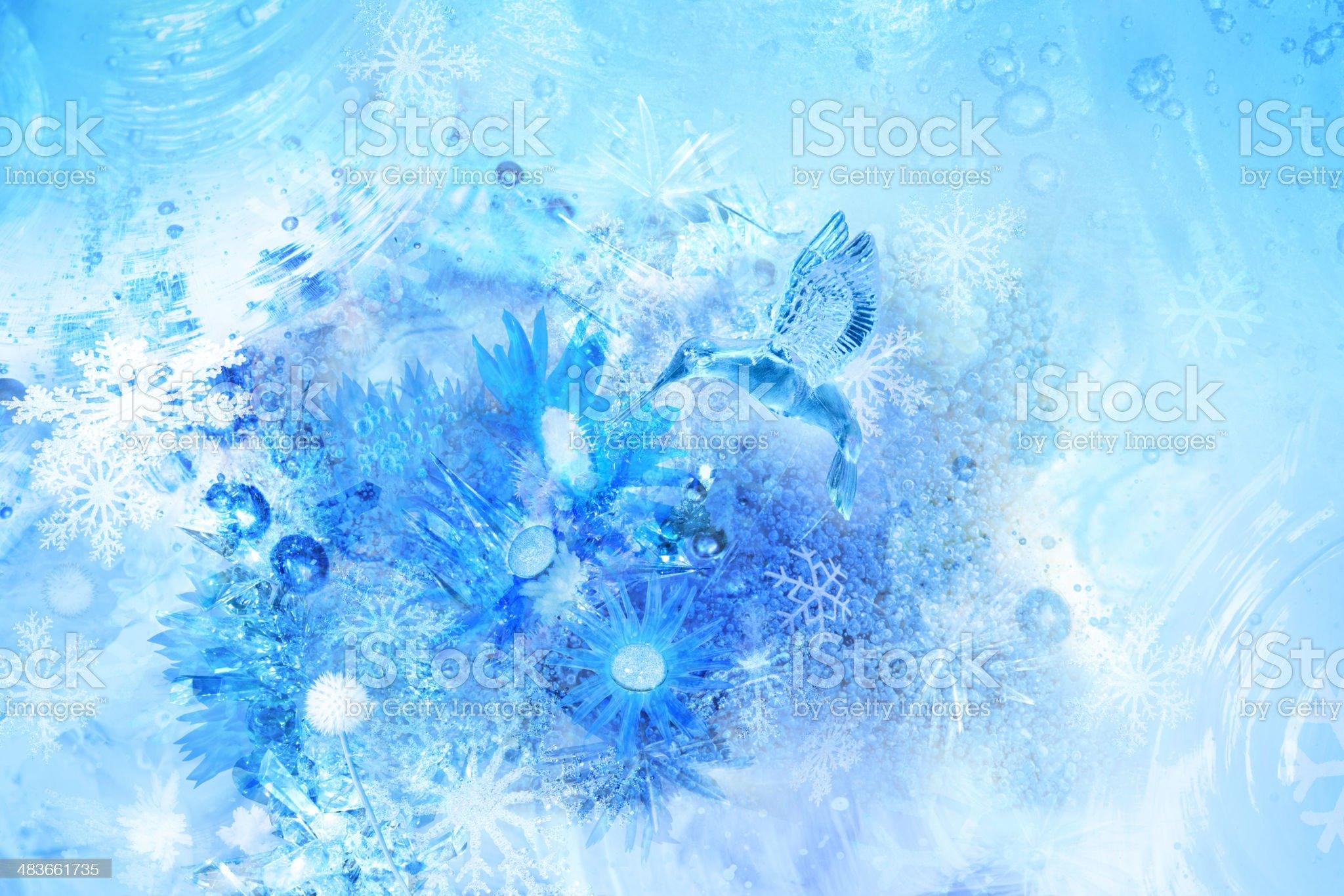 Ice bird scene royalty-free stock photo