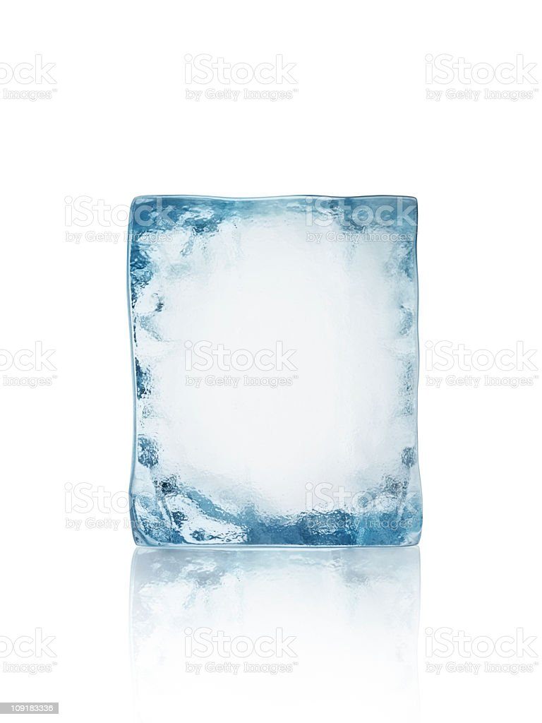 Ice block isolated on white stock photo