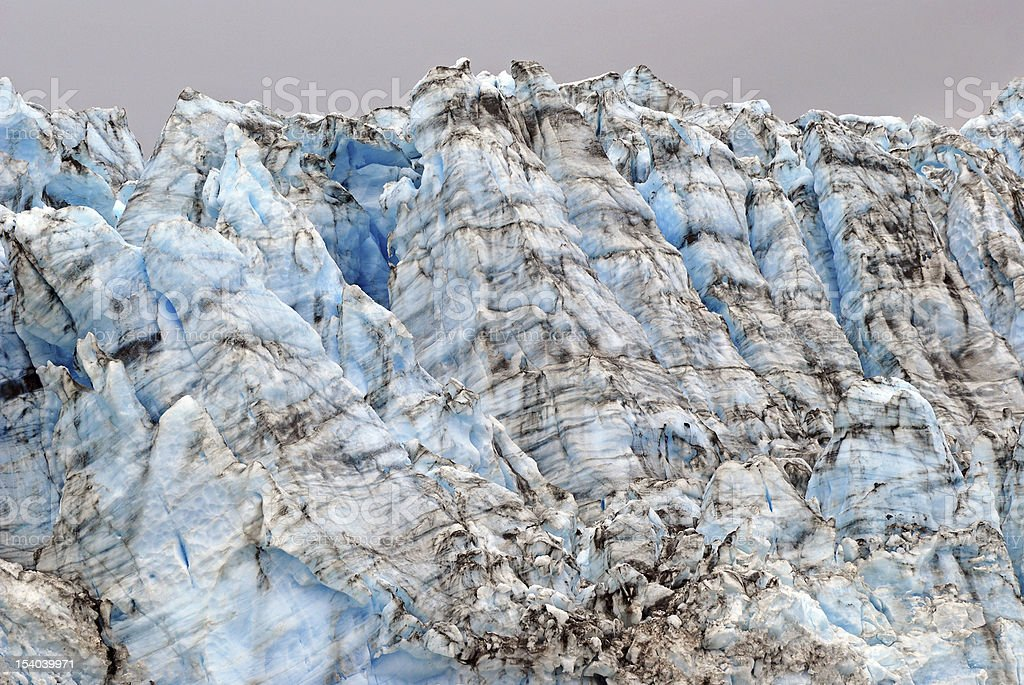 Ice blocks in Alaska stock photo