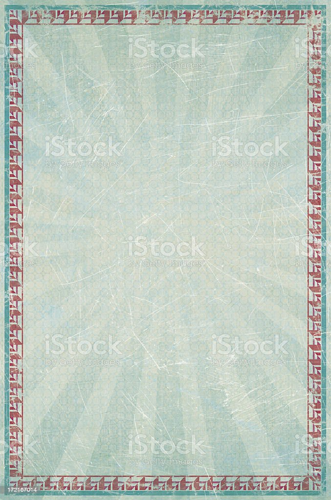 Ice Blue Poster Background with Red  Frame royalty-free stock photo