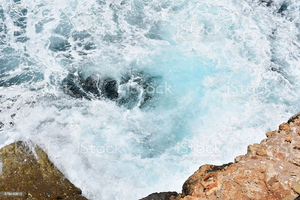 Ice Blue Whirlpool of water stock photo