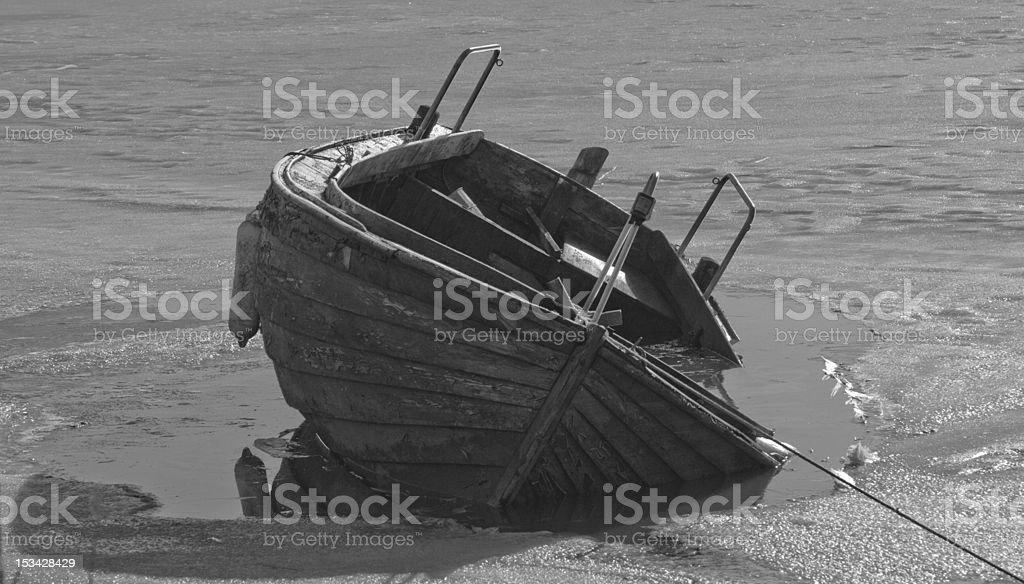 Ice Boat stock photo