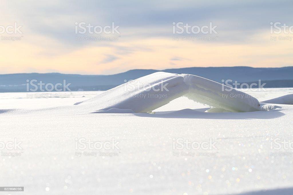 Ice Bridge stock photo
