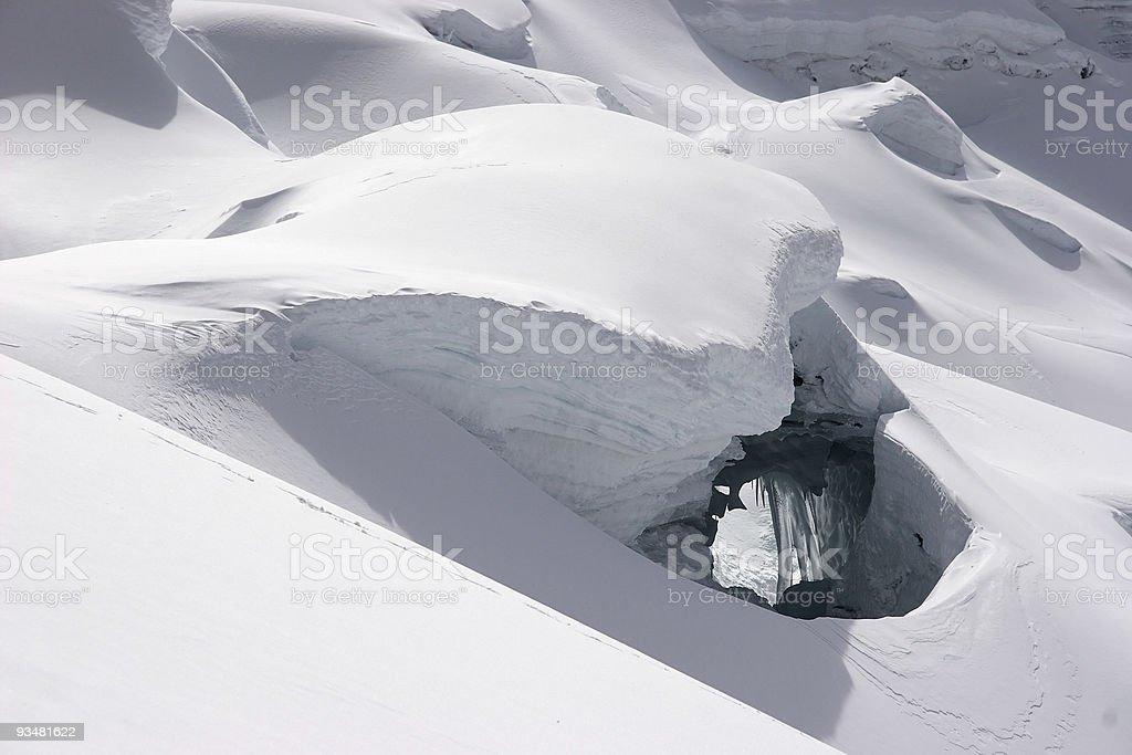 Ice bridge royalty-free stock photo
