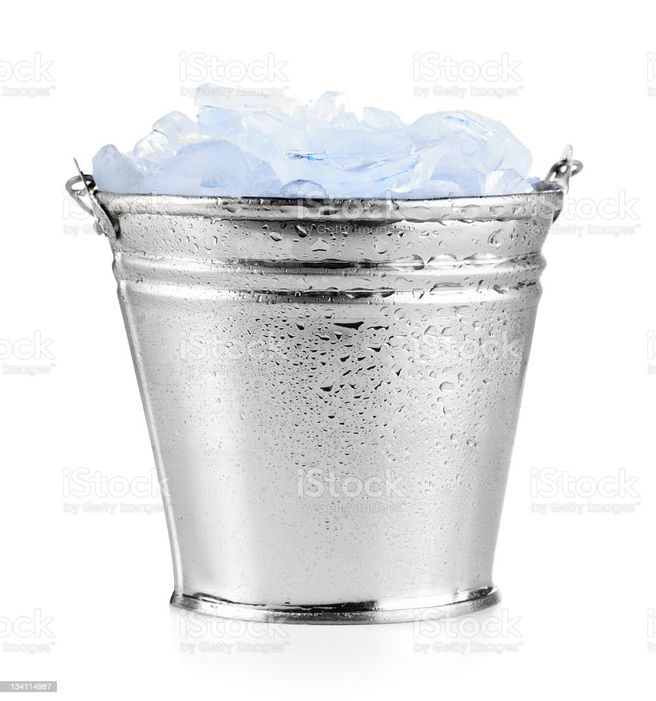 Ice bucket stock photo
