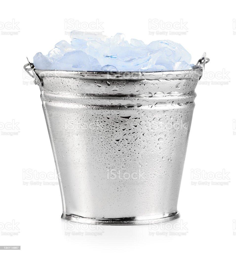 Ice bucket stock photo