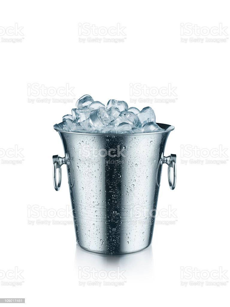 Ice bucket with isolated on white stock photo