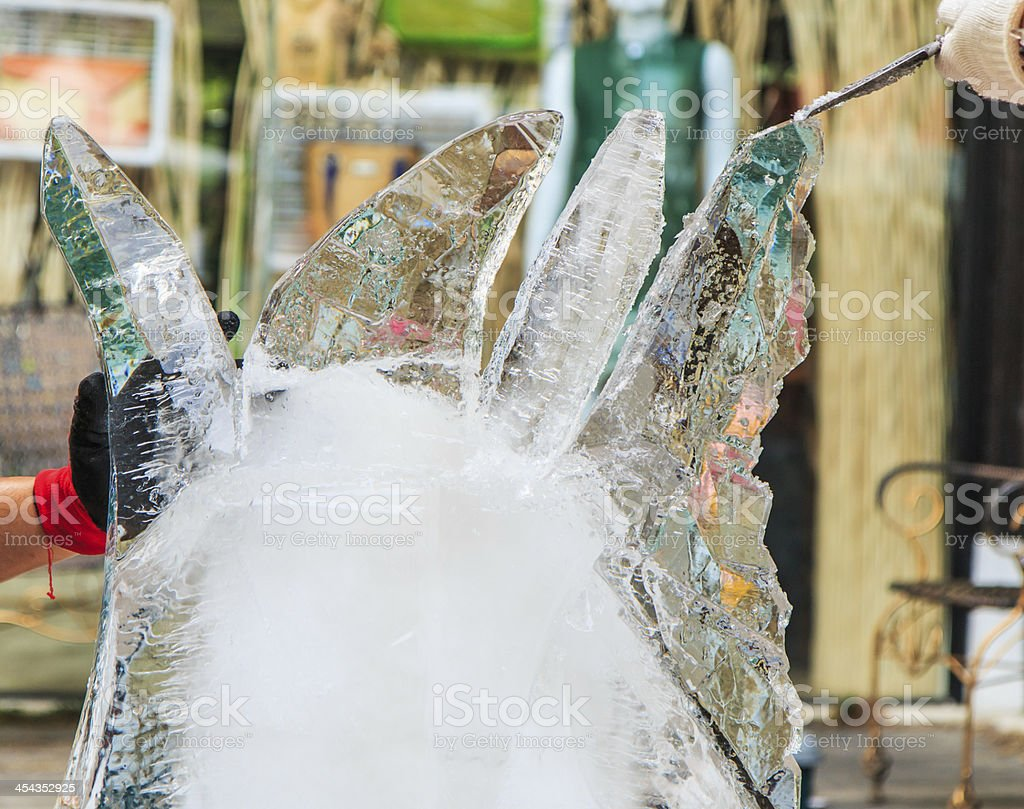 Ice carving stock photo