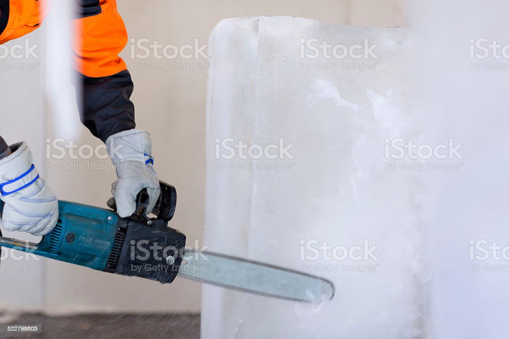 Ice carving. stock photo