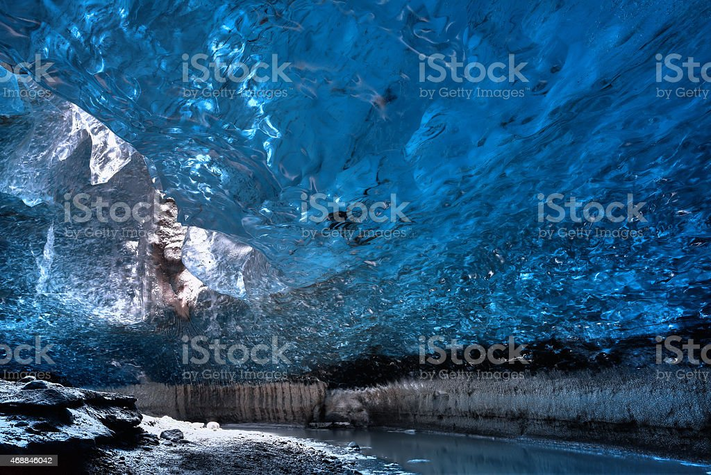 Ice cave stock photo