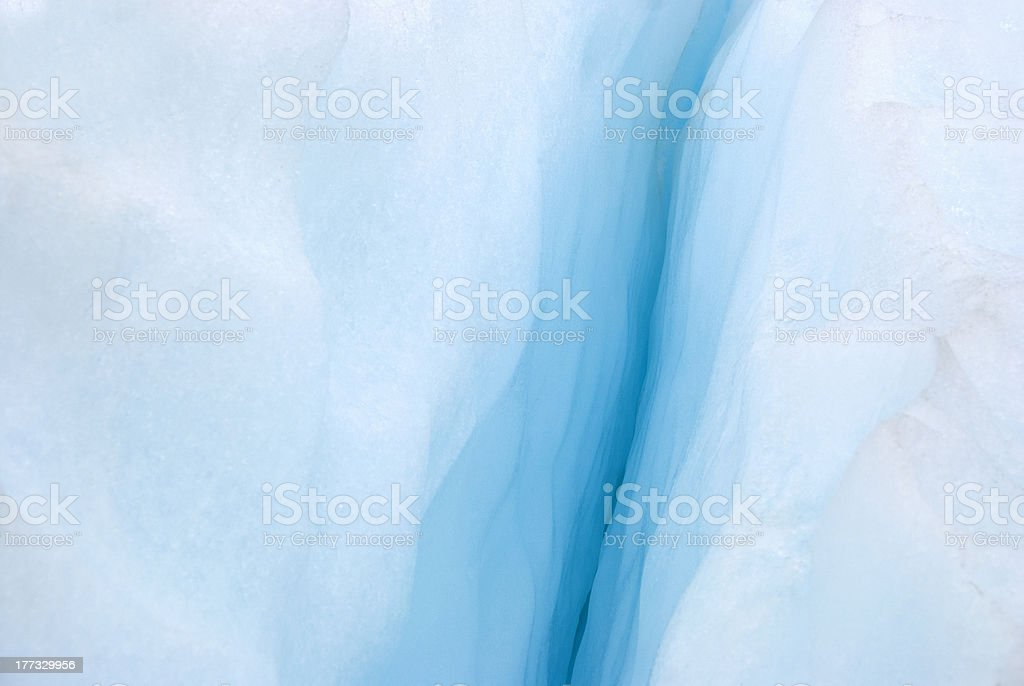 Ice Cavern On Glacier royalty-free stock photo