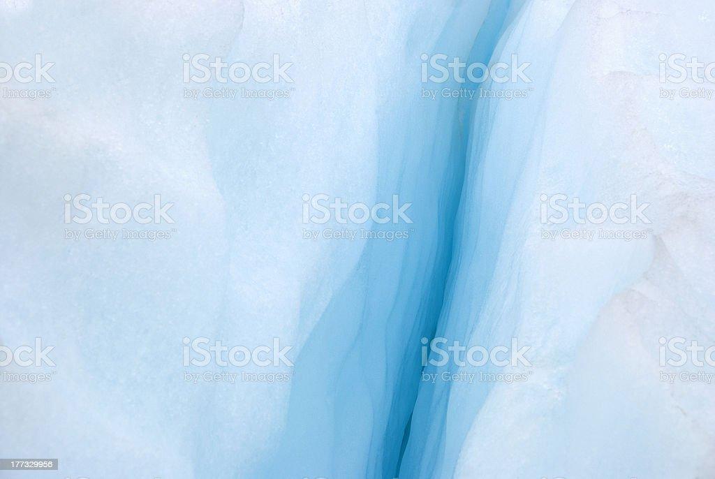 Ice Cavern On Glacier stock photo
