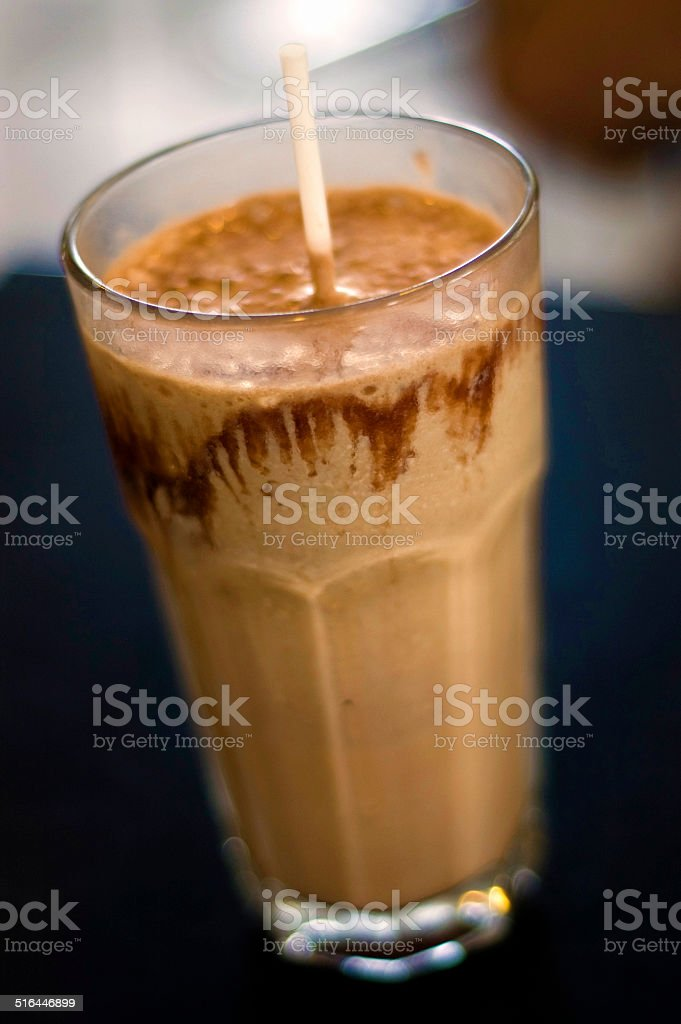 Ice Chocolate Milkshake stock photo