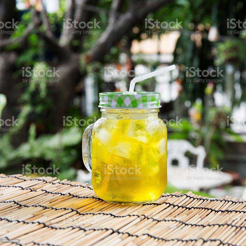 Ice Chrysanthemum tea stock photo