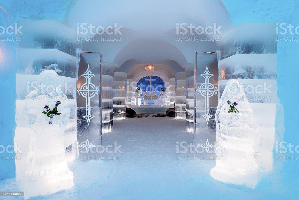 Ice Church, Sorrisniva, Norway stock photo